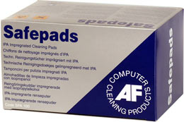 Afspa100       Af Safepads Cleaning Pads      Isopropanol 100 Pack                                         - UF01