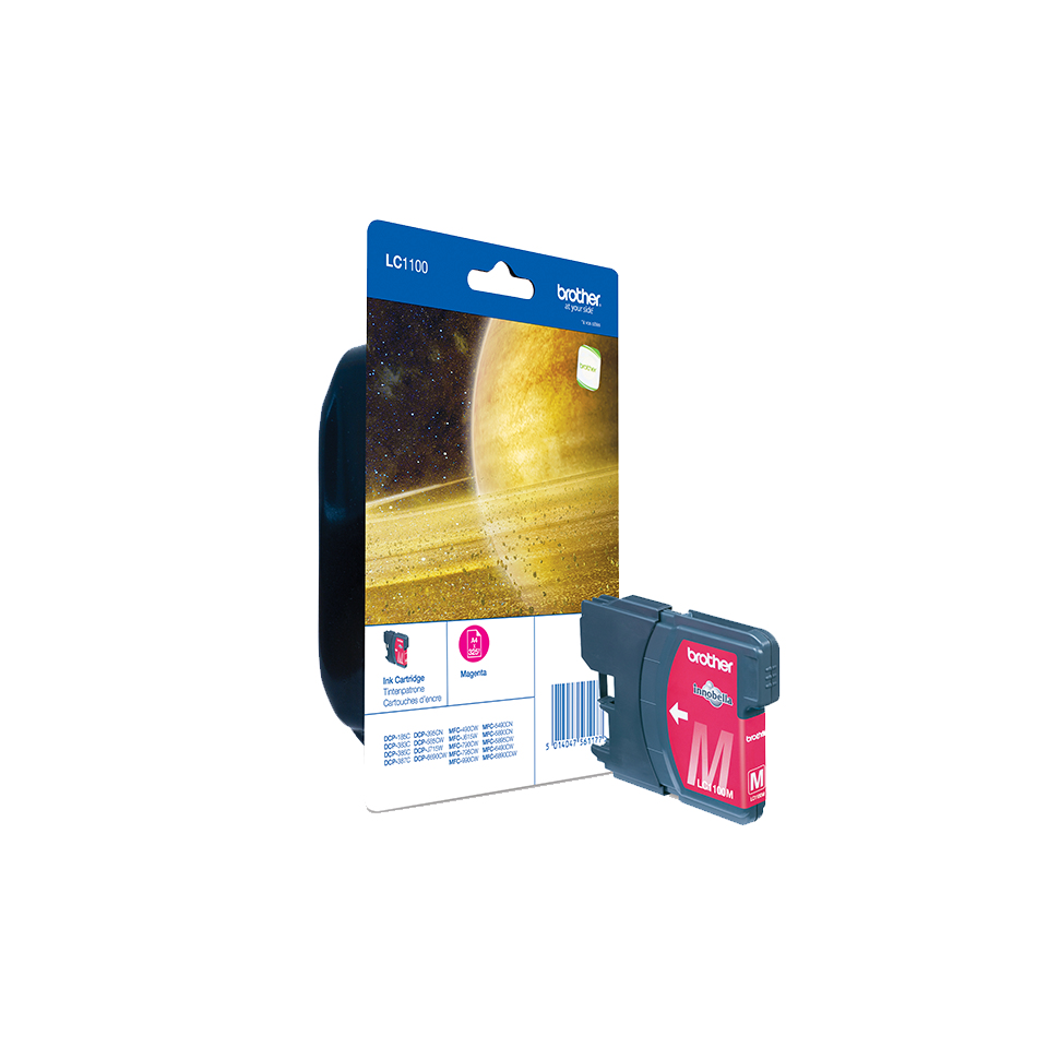 Brolc1100m     Brother Lc1100 Magenta         Ink Cartridge                                                - UF01