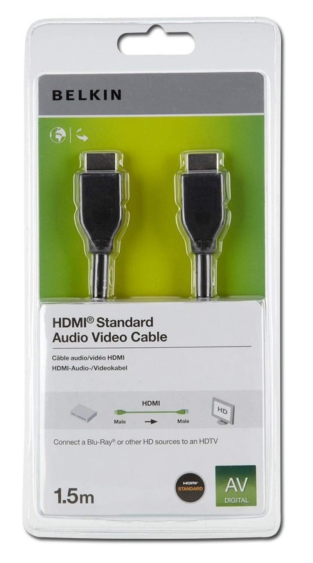 Belkin High Speed Hdmi Cable 1.5m F3y017r1.5mblk - WC01