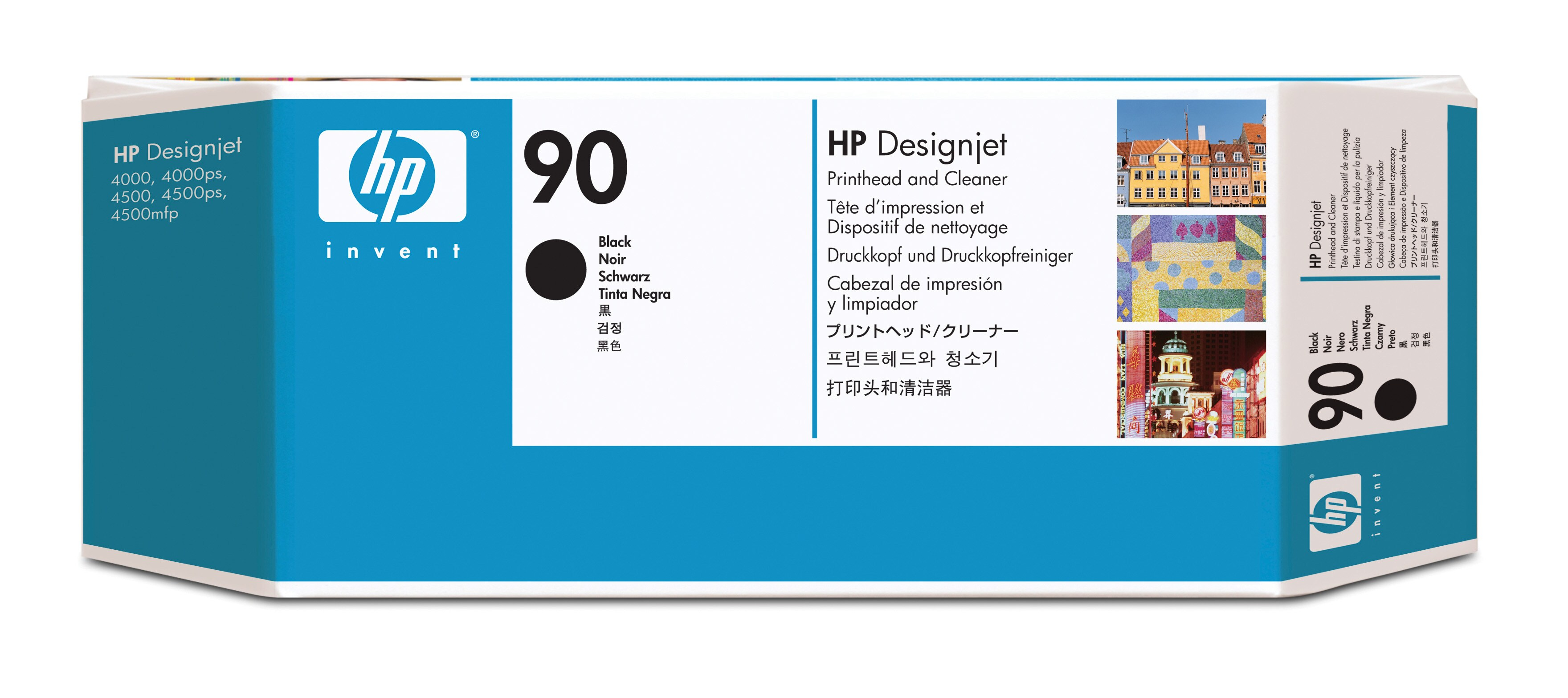 HP No. 90 Ink Printhead And Cleaner - Black  C5054a
