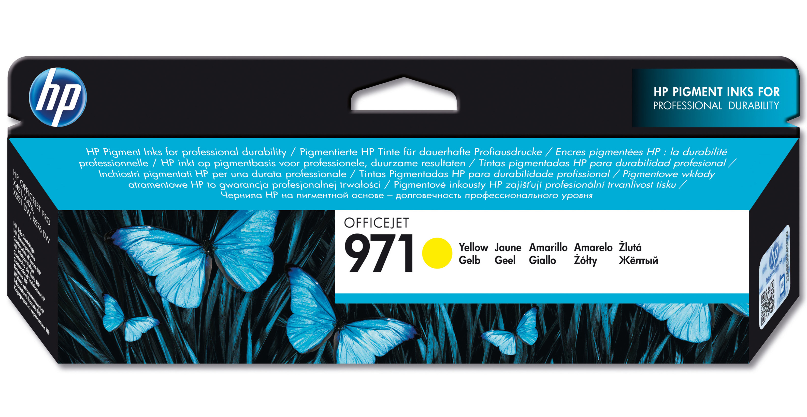 Hpcn624ae      Hp 971 Yellow Officejet        Ink Cartridge                                                - UF01
