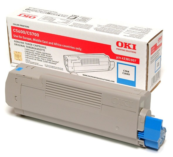 C56/5700 Cyan Toner 2k (2k Pages) 43381907 - WC01