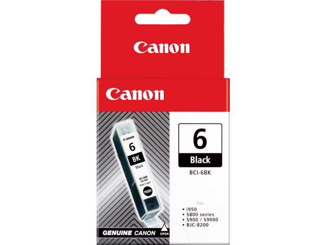 Can22187       Canon Bci-6bk Black Ink Tank   Black Bj Ink Tank                                            - UF01