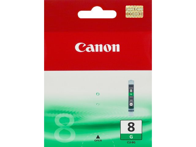 Can31021       Canon Cli-8 Green Ink          Colour Ink                                                   - UF01