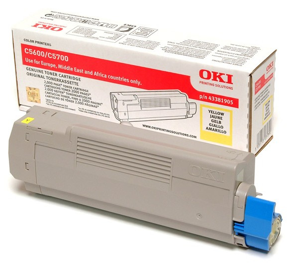 C56/5700 Yellow Toner 2k (2k Pages) 43381905 - WC01