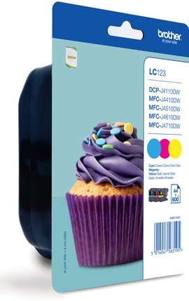 Brolc123rbwbp  Brother Lc123 Rainbow Pack     Ink Cartridge                                                - UF01