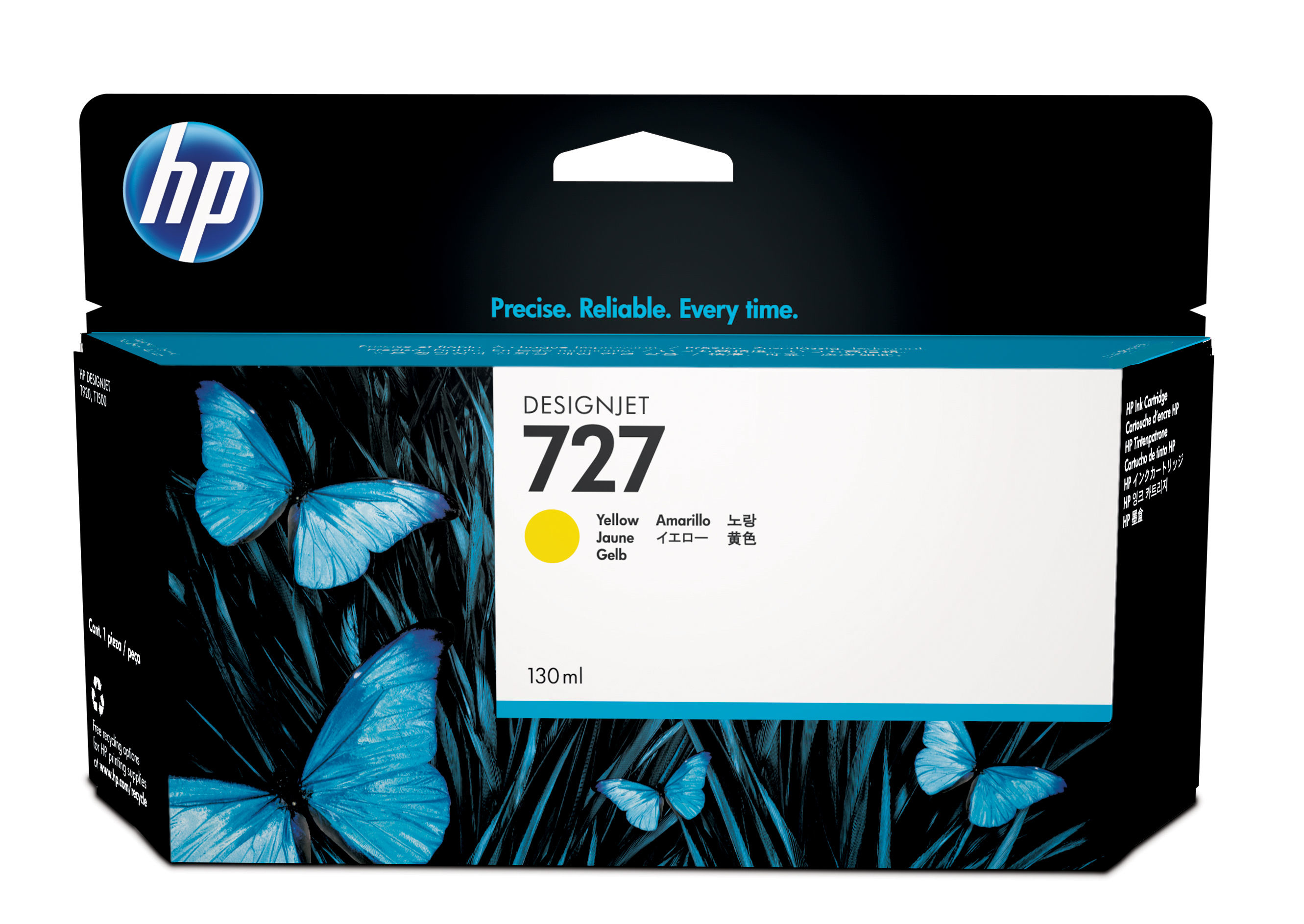 Hp 727 130-ml Yellow Ink Cart B3p21a - WC01