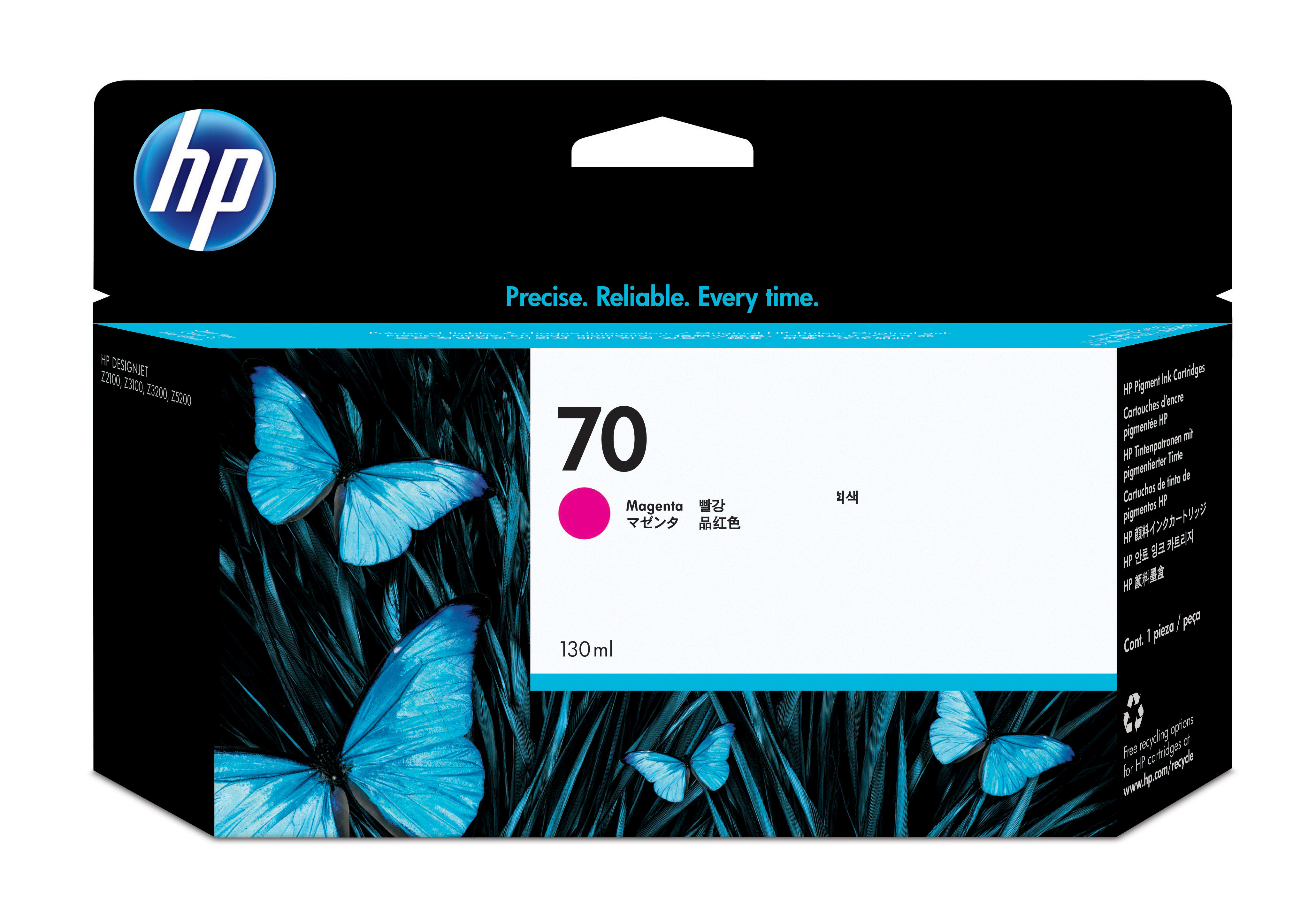 Hp 70 130 Ml Magenta Ink Cartridge C9453a - WC01