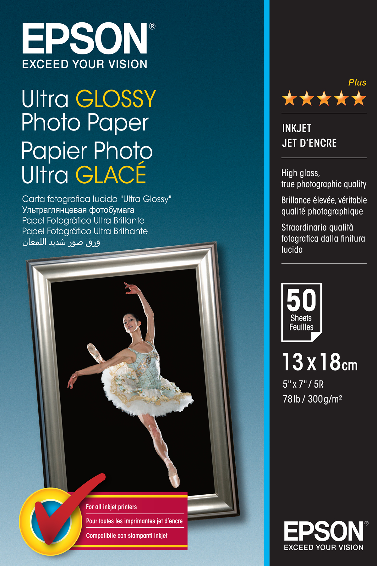 Ultra Glossy Photo Paper 13x18 50sh C13s041944 - WC01