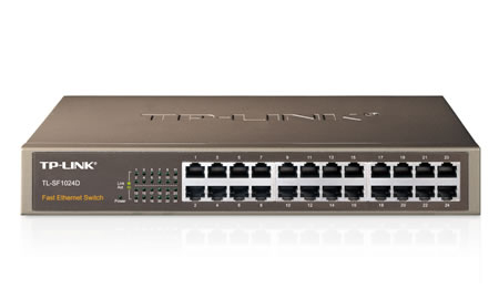 "TP-Link 24-Port 10/100 Switch 13""-Rack TL-SF1024D - CMS01"