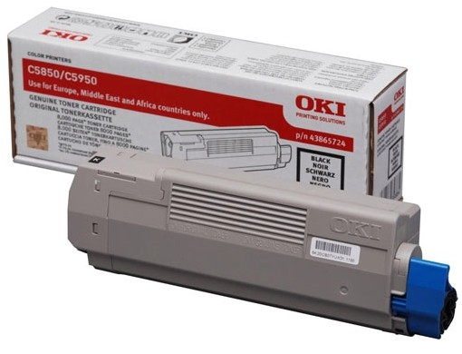 Oki C5850/5950 Black Toner (8k) 43865724 - WC01