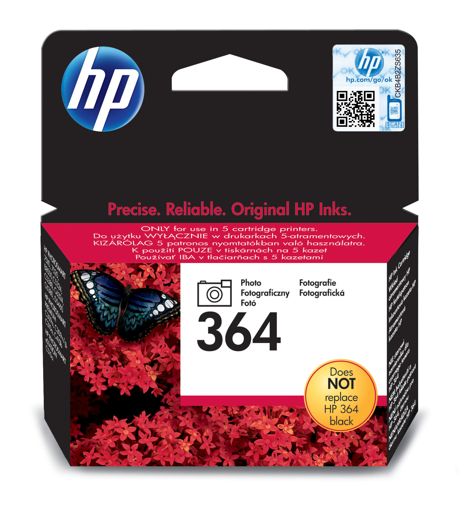 Hp 364 Photo Black Ink Cartridge Cb317ee - WC01