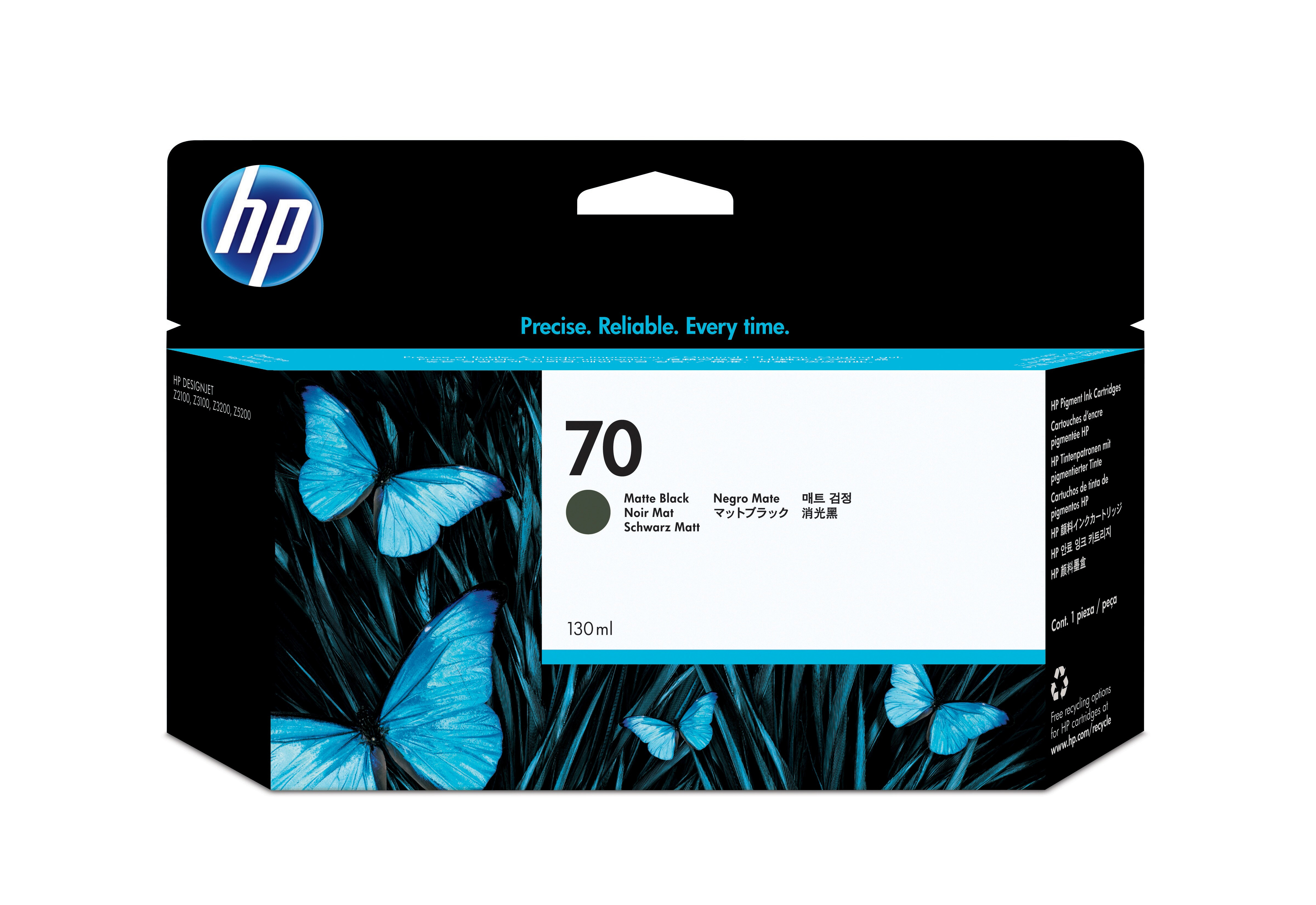 HP No. 70 Ink Cartridge Matte Black - 130ml C9448a