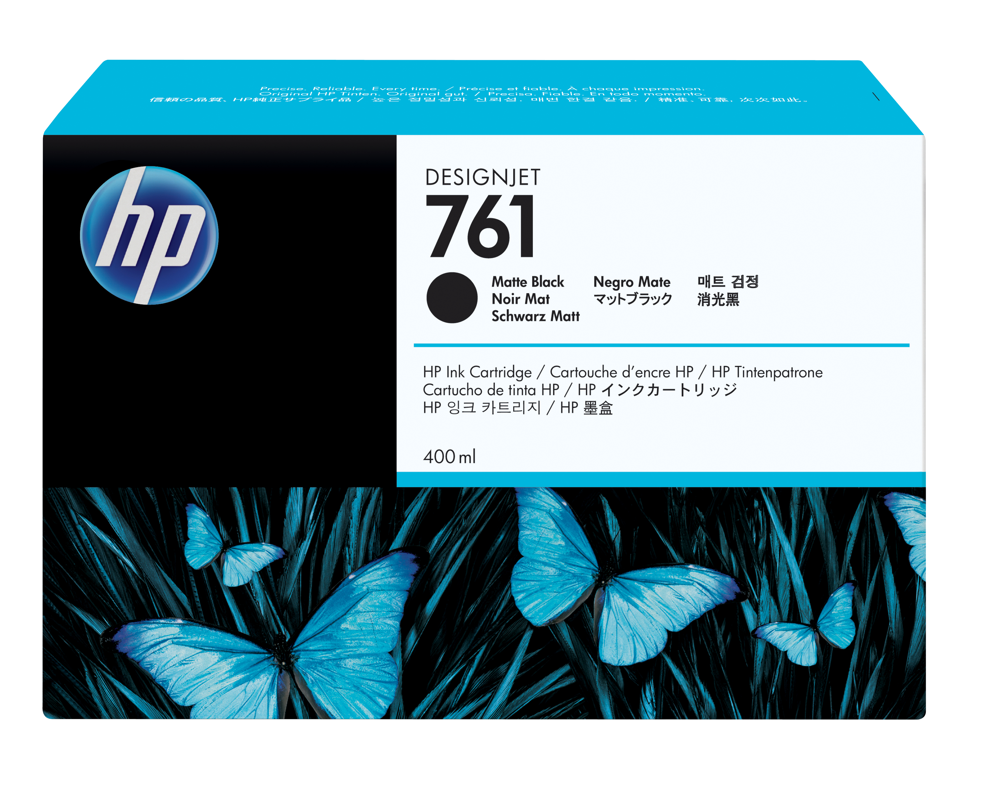 HP No. 761 Ink Cartridge - Matte Black - 400ml Cm991a