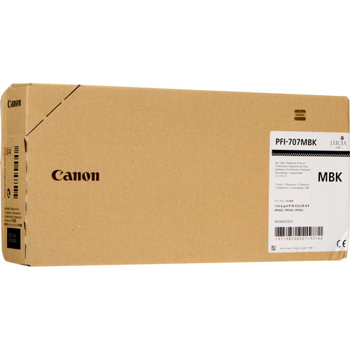 CANON PFI-707MBK - Matte Black Ink Tank - 700ml 9820b001aa