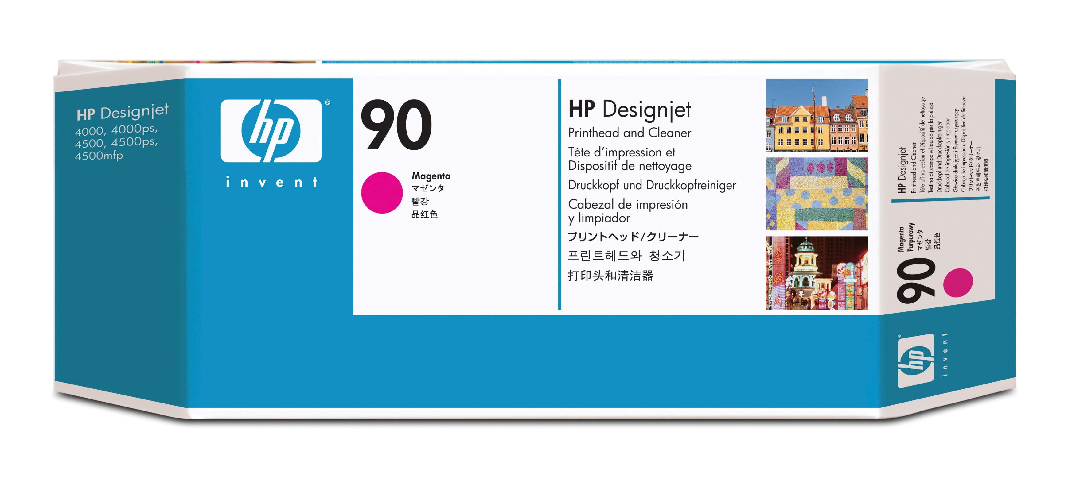 Hp No.90 Magenta Printhead + Cleaner C5056a - WC01