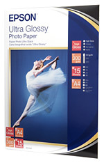 Ultra Glossy Photo Paper A4 15-shts C13s041927 - WC01