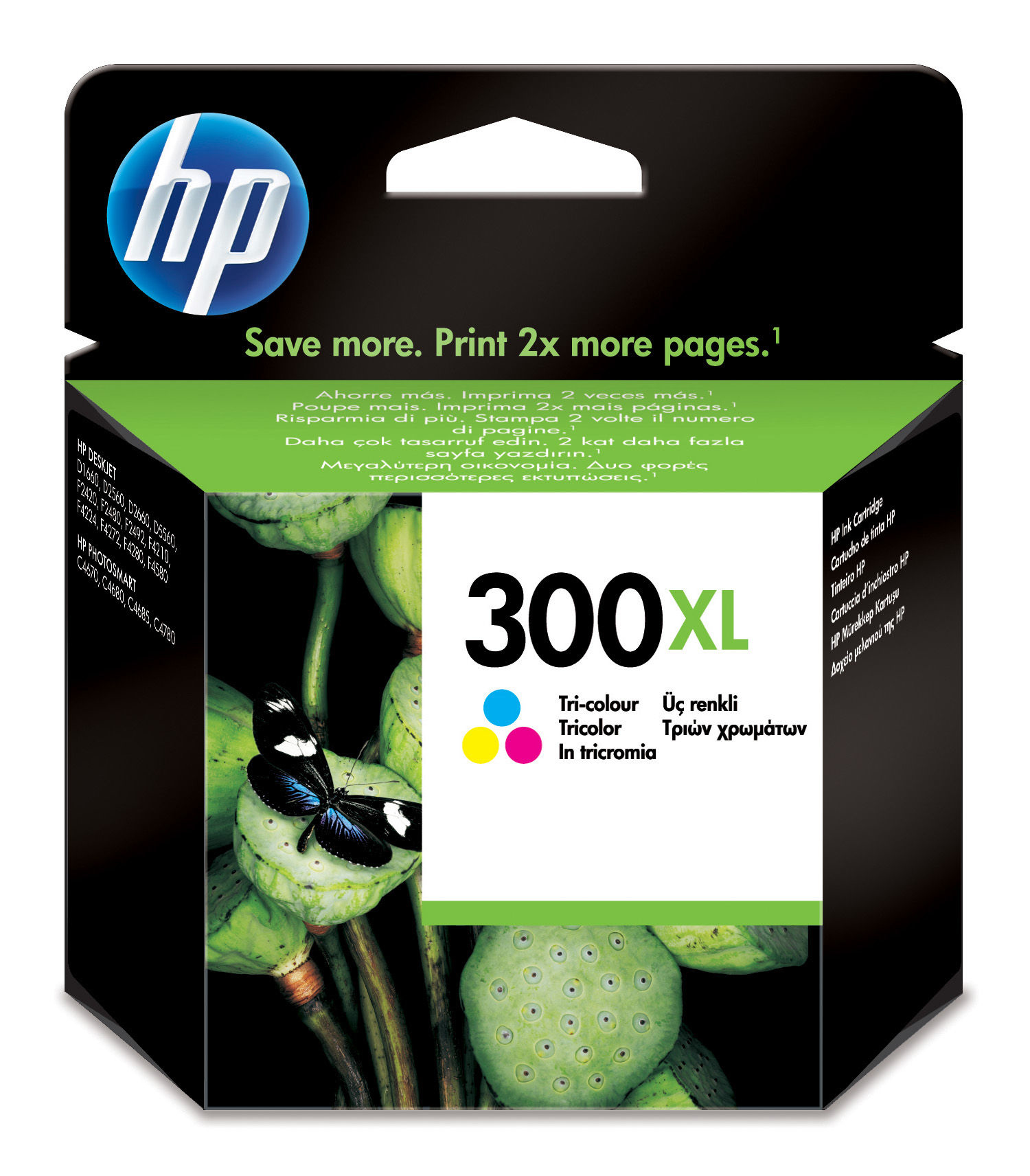 Hpcc644ee      Hp 300xl Tri-colour Inkjet     Hp 300xl Tri-colour Inkjet Cartridge                         - UF01