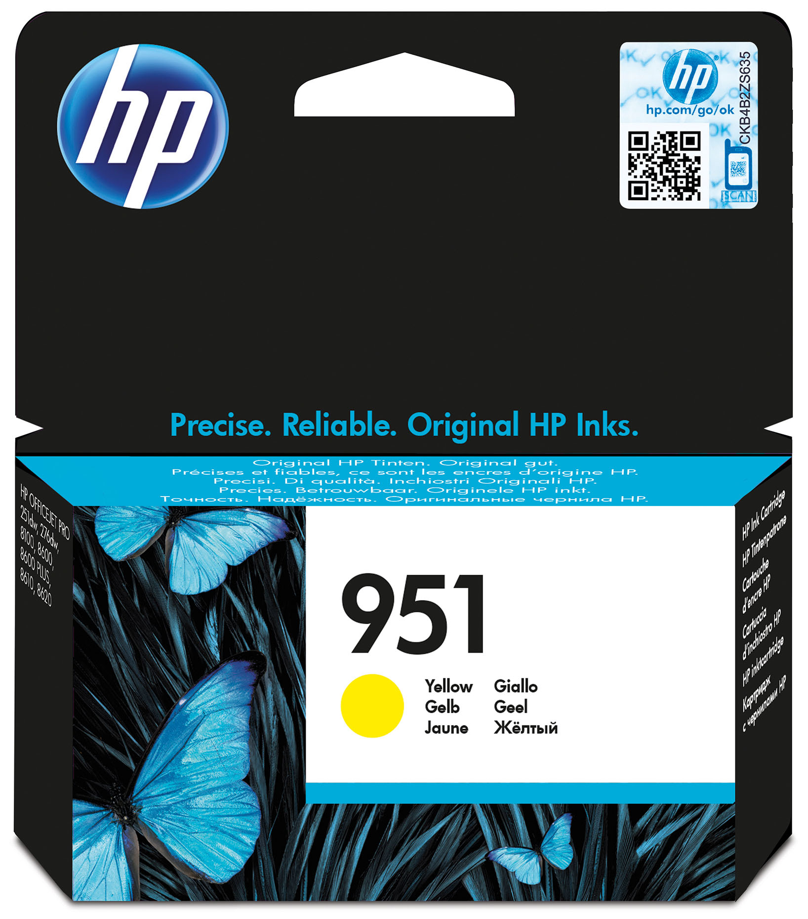 Hpcn052ae      Hp 951 Yellow Officejet Ink    Cartridge 700 Pages                                          - UF01