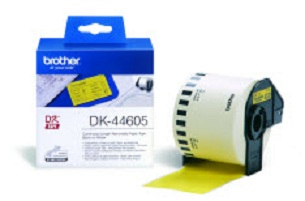 P-touch Tape Removable Yellow Paper Dk44605 - WC01