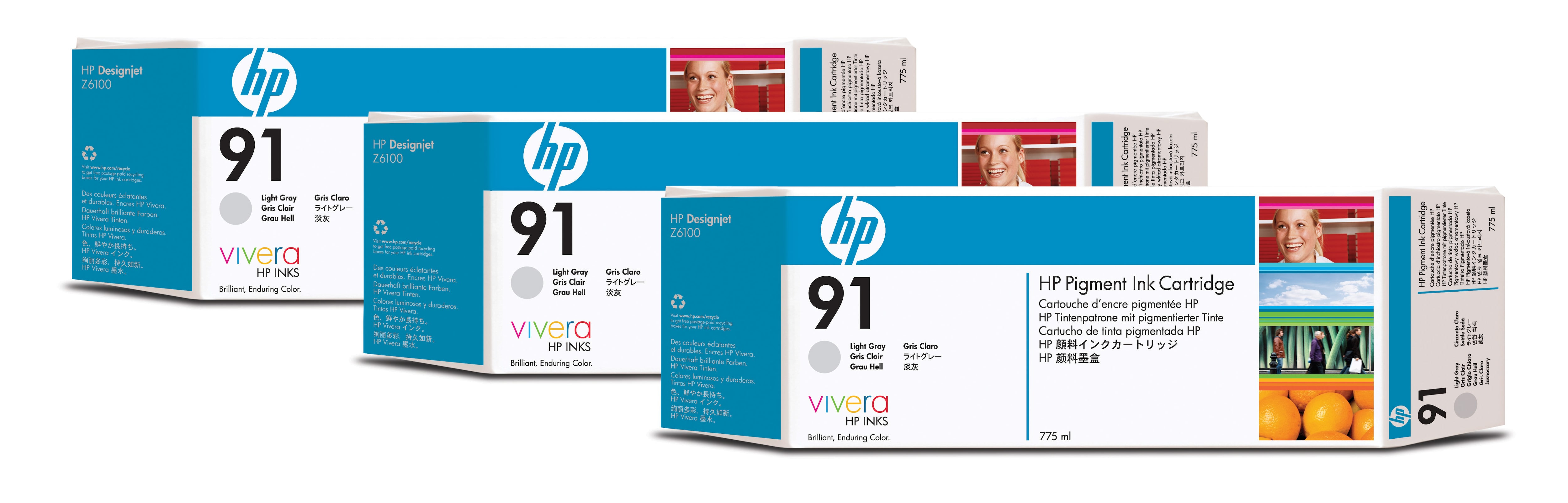 HP No. 91 3 Ink Multipack - Light Grey C9482a