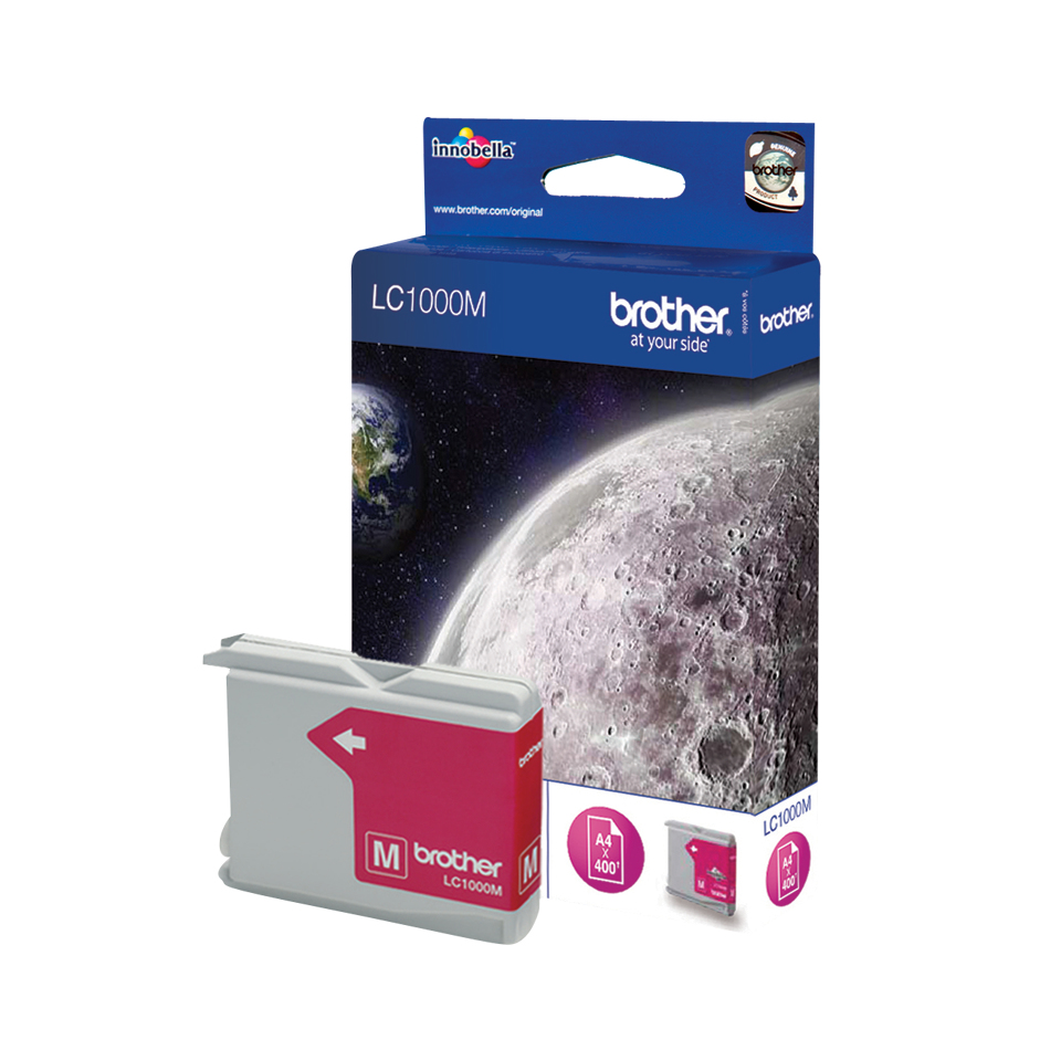 Brolc1000m     Brother Lc1000 Magenta         Ink Cartridge                                                - UF01