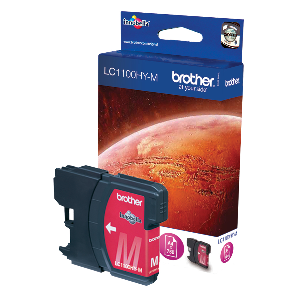Brolc1100hym   Brother Lc1100hy Magenta       Ink Cartridge                                                - UF01