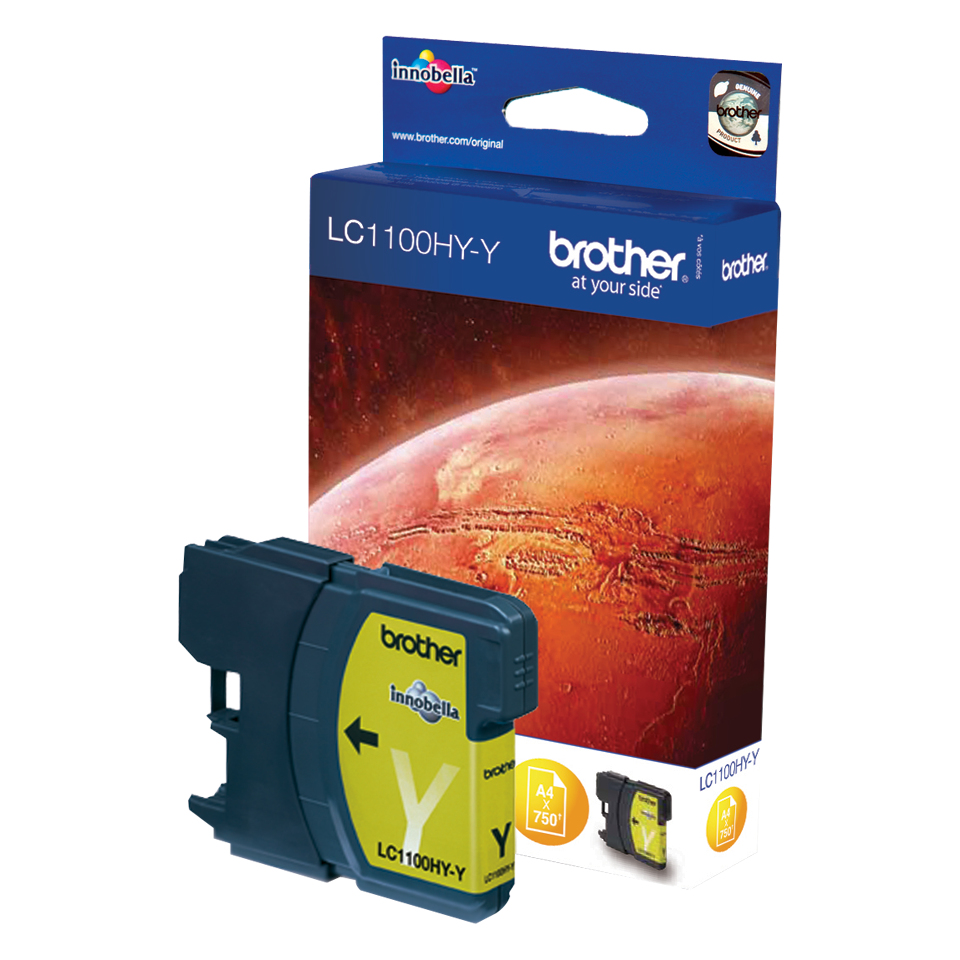 Brolc1100hyy   Brother Lc1100hy Yellow        Ink Cartridge                                                - UF01