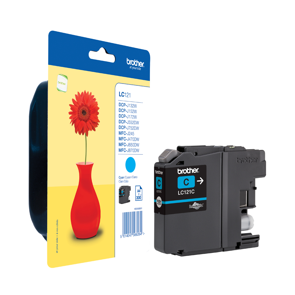 Brolc121c      Brother Lc121 Cyan             Ink Cartridge                                                - UF01