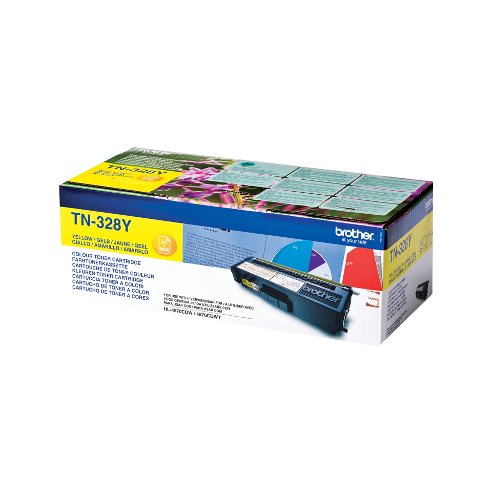 Brotn328y      Brother Tn328 Yellow Toner     Hl4570cdw, Mfc9970cdw, Dcp9270cdn                            - UF01