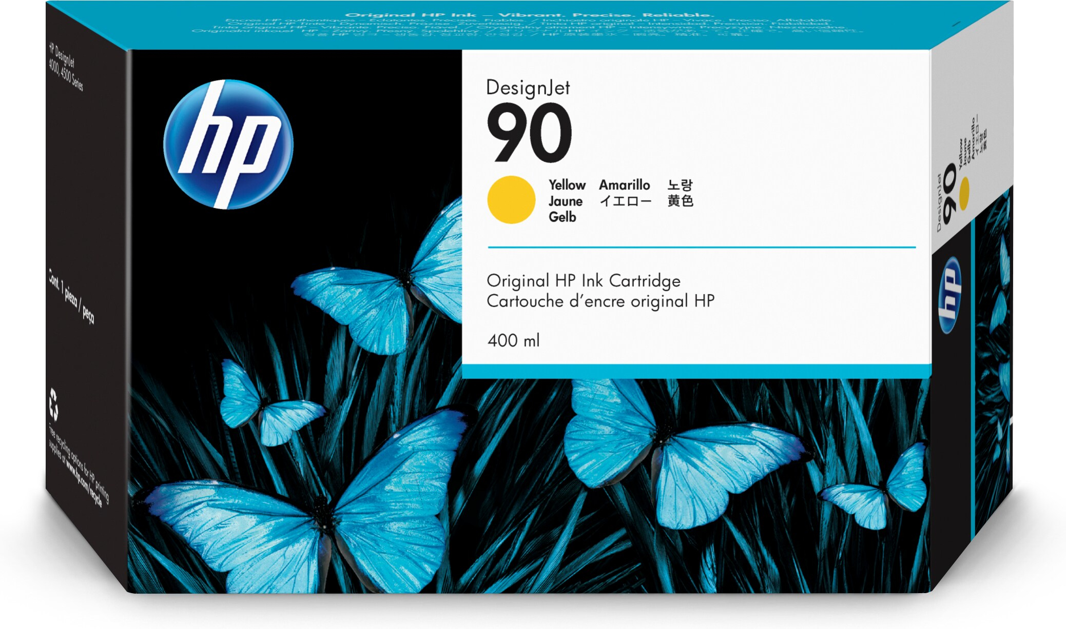 Hp No.90 Yellow Ink Cartridge 400ml C5065a - WC01