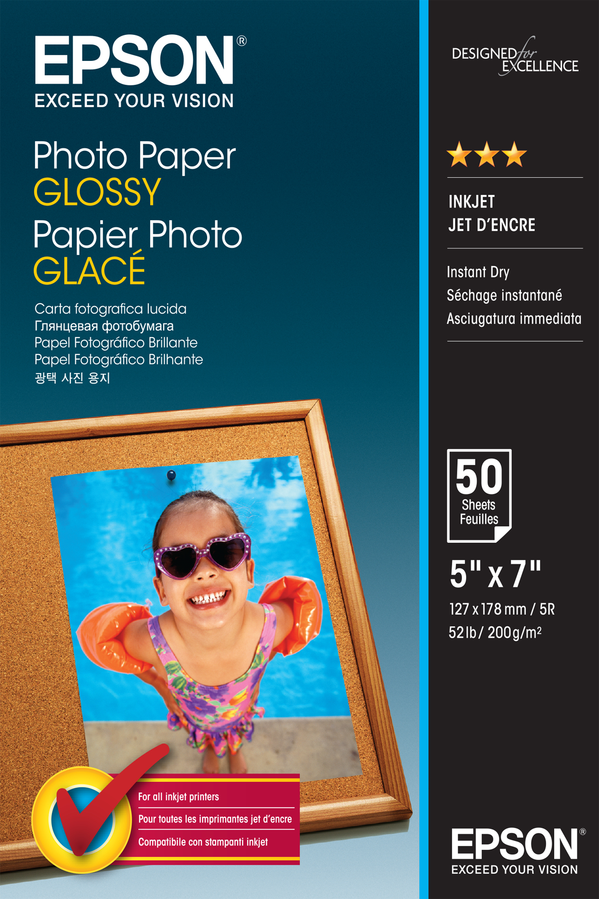 Photo Paper Glossy 13x18cm 50 Sheet C13s042545 - WC01