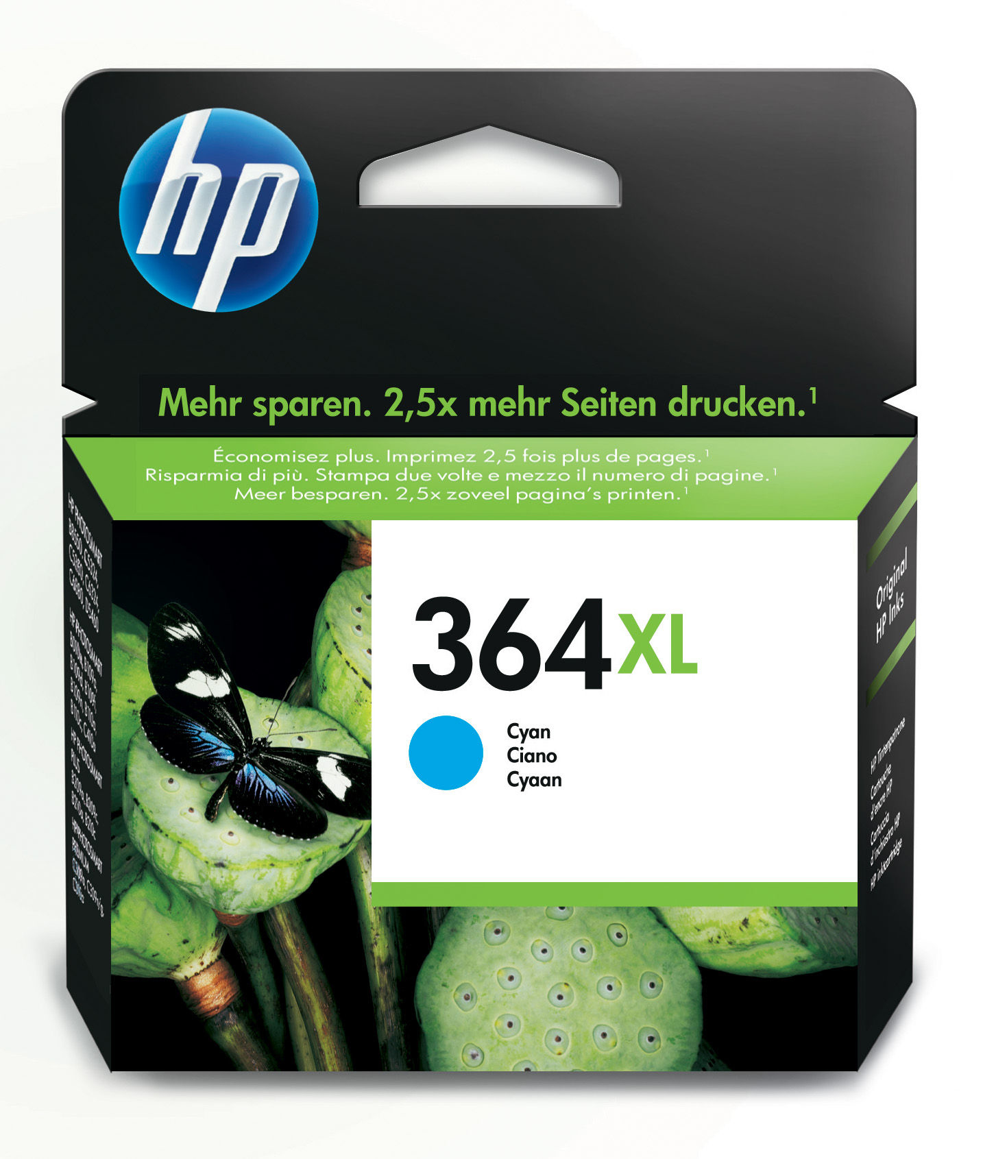 Hp 364xl Cyan Ink Cartridge Cb323ee - WC01