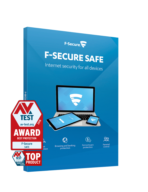 F-Secure SAFE (1 Year, 3 Device) FCFXBR1N003E1 - C2000