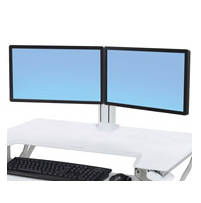 "Ergotron WorkFit Dual Monitor Kit - Cart Upgrade Kit For 2 Monitors - White - Screen Size: 24"" 97-934-062 - C2000"