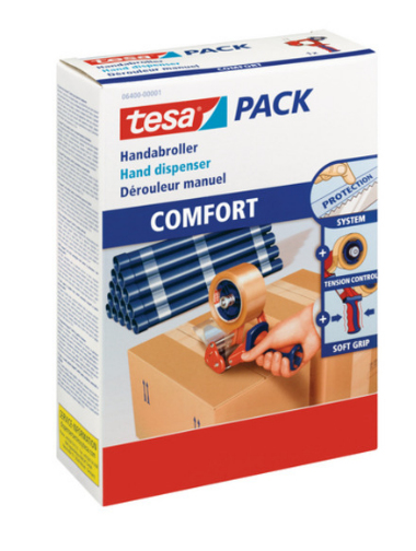 tesa uk ltd Tesa Comfort Packaging Tape Dispenser 06400 Pk1 06400-00001-03 - AD01