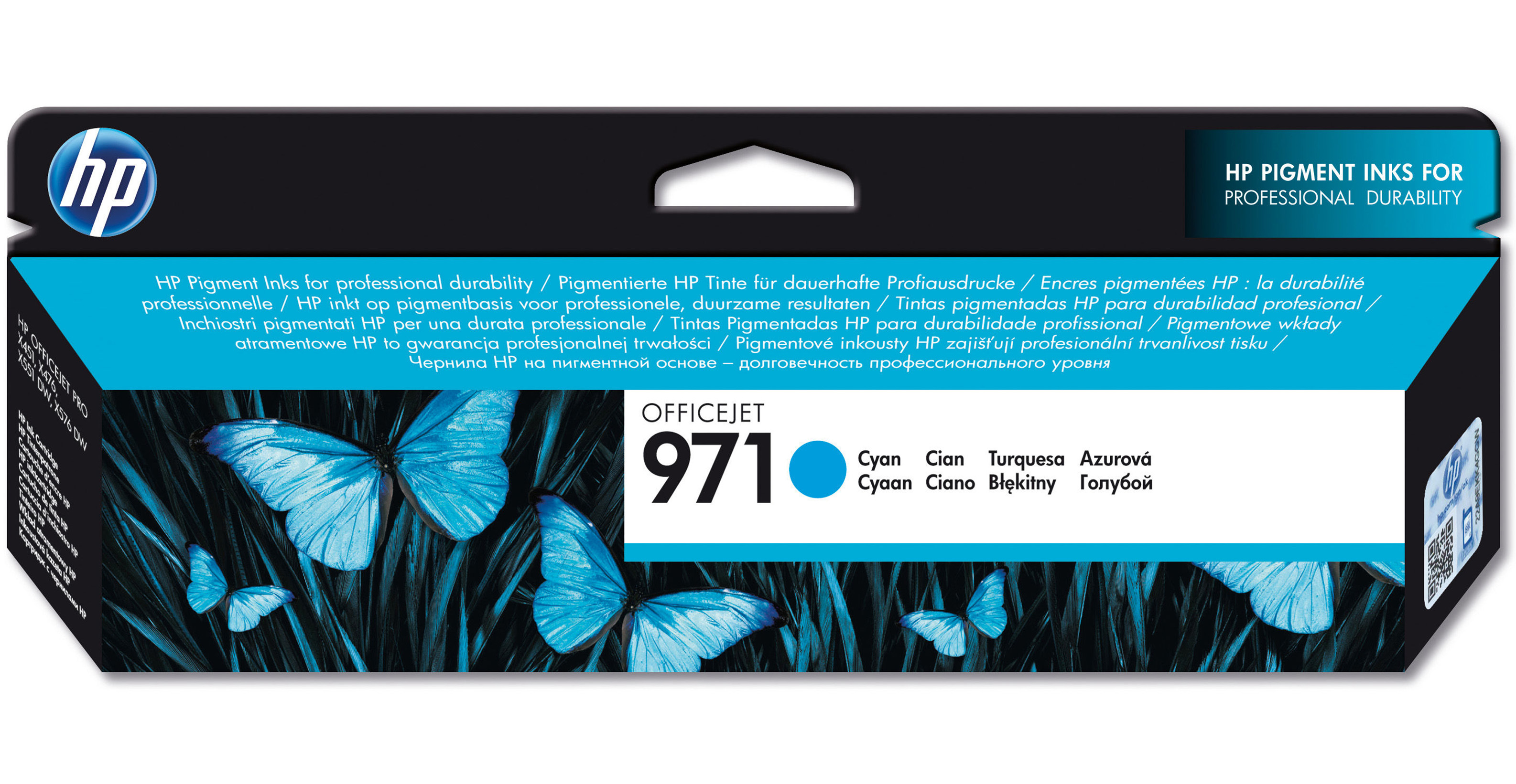Hpcn622ae      Hp 971 Cyan Officejet          Ink Cartridge                                                - UF01