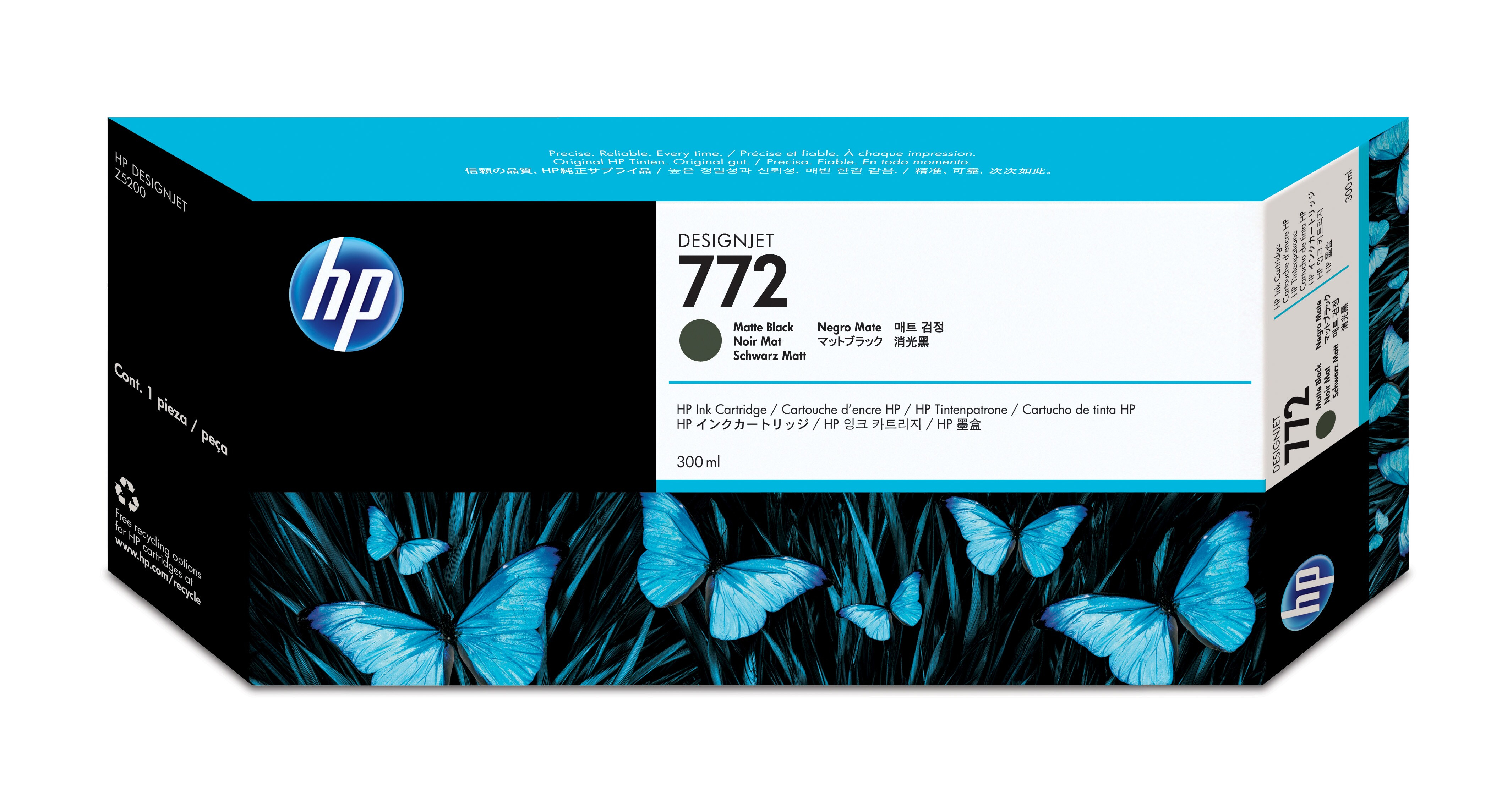 HP No. 772 Ink Cartridge Matte Black - 300ml Cn635a