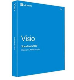D86-05555 Microsoft Visio Standard 2016 English Medialess - Ent01