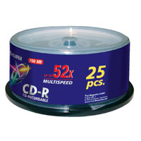 Fu47237        Fuji Cd-r Spindle              25 Pack 700mb 52x                                            - UF01