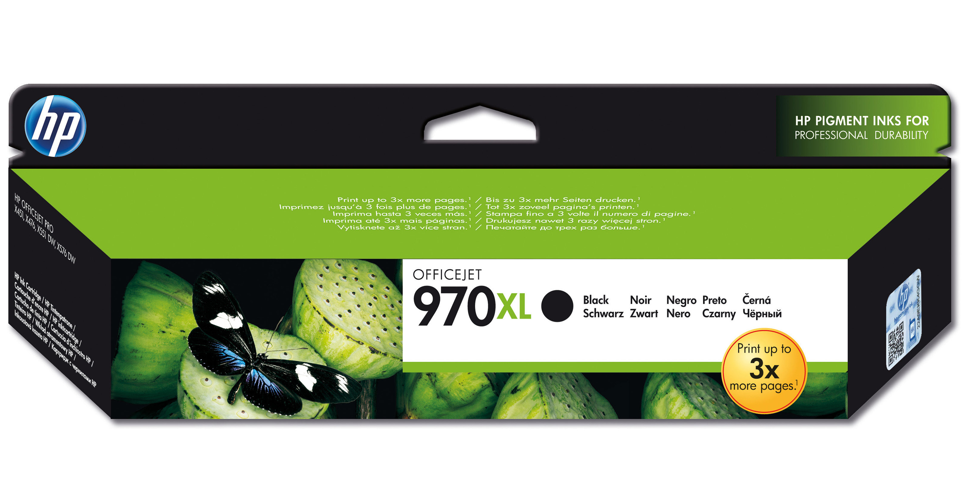Hpcn625ae      Hp 970xl Black Officejet       Ink Cartridge                                                - UF01