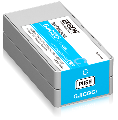 Epson - Pos Sd Label Consumables Gjic5(c): Ink Cartridge             For Gp-c831 (cyan)                  C13s020564
