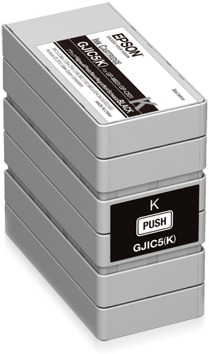 Epson - Pos Sd Label Consumables Gjic5(k): Ink Cartridge             For Gp-c831 (black)                 C13s020563