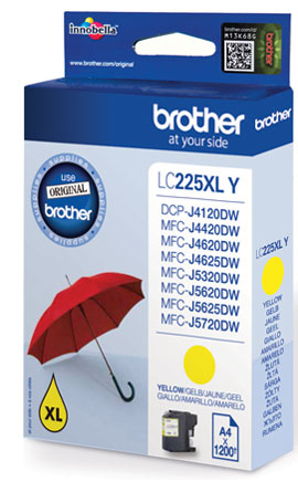 Brolc225xly    Brother Lc225xly Yellow Ink    Dcp-j4120dw                                                  - UF01