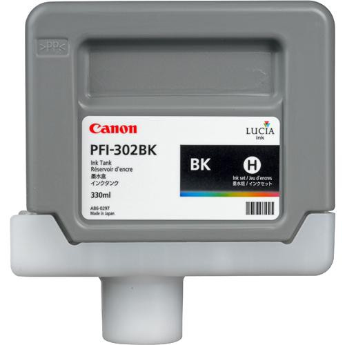 CANON PFI-302BK - Black Ink Tank - 330ml  2216b001aa