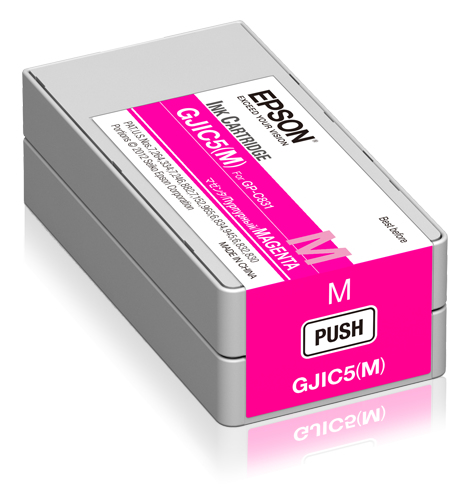 Epson - Pos Sd Label Consumables Gjic5(m): Ink Cartridge             For Gp-c831 (magenta)               C13s020565