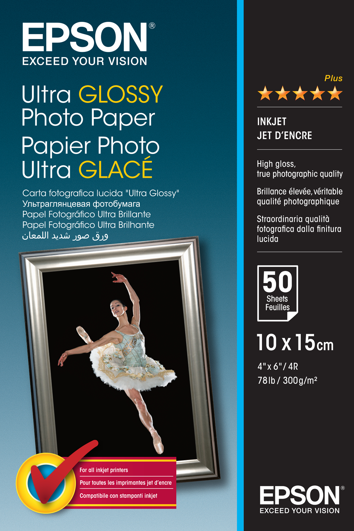 Epsso41943     Epson 10x15 Ultra Gloss Photo  10x15cm Ultra Glossy (50 Shts)                               - UF01