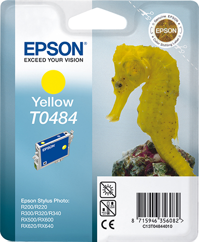 Epst048440     Epson T0484 Yellow Ink         Tylus Photo R200 R300 R320                                   - UF01