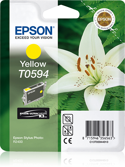 Epst059440     Epson T0594 Yellow Ink         T059 Stylus R2400 Yellow Ink                                 - UF01