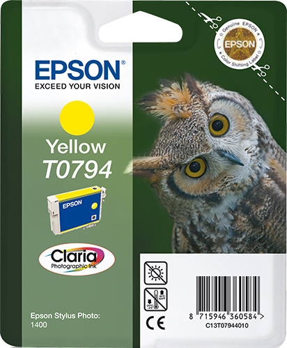 Epst079440ao   Epson T0794 Yellow Ink         Stylus Photo 1400                                            - UF01